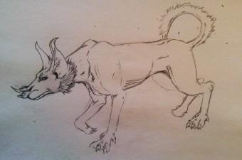 """""""bathound"""" sketch - Jesus Gomez"""