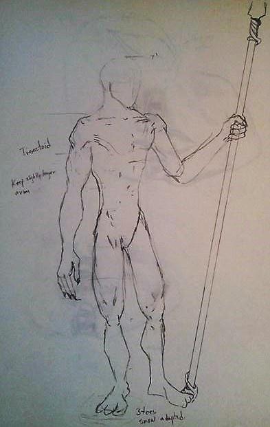 """Valakiri Male"" sketch - Jesus Gomez"