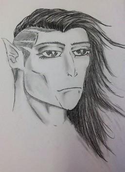 """Valakiri Female Head"" sketch - Jesus Gomez"