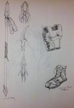 """Valakiri Weaponry"" sketch - Jesus Gomez"
